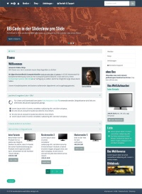 responsive Template (Bootstrap) für web to date, shop to date und Siquando